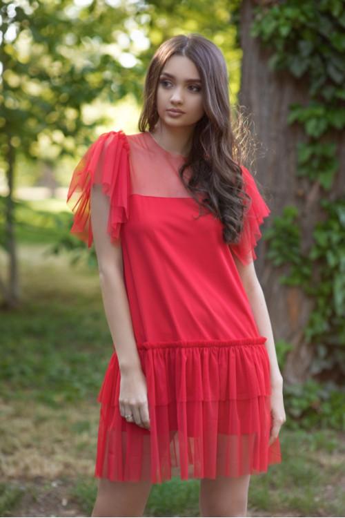 Платье 3421 красный
